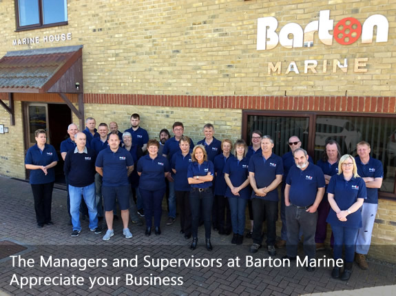 The Managers and Suervisors at Barton Marine appreciate your Business