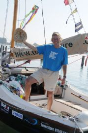 Barton sponsored Mike Brooke successfully completes charity sail around Britain