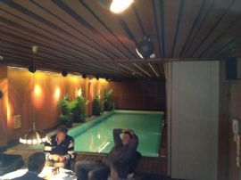 Relaxing in the Oy Maritim sauna