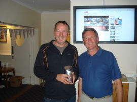 Wed Points Keelboats Winner G Taylor with Mike Harrison