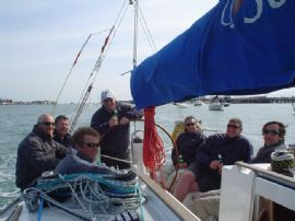 The Barton/ Navimo Crew after a hard day�s racing