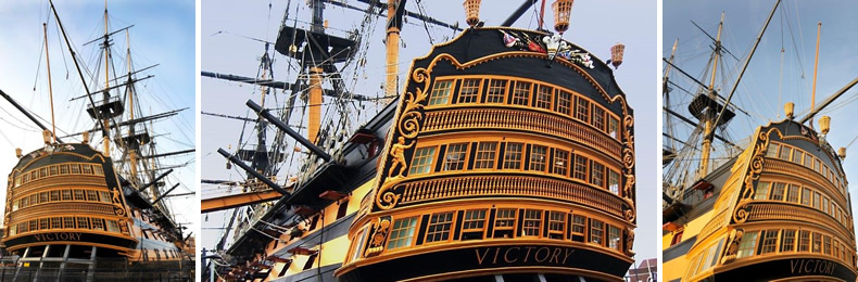 HMS Victory image used with kind permission from the Royal Navy Museum