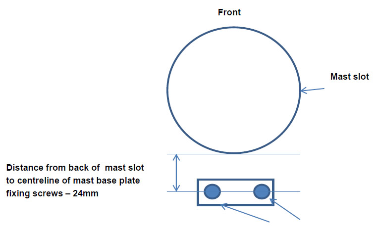 Replica mast base assembly